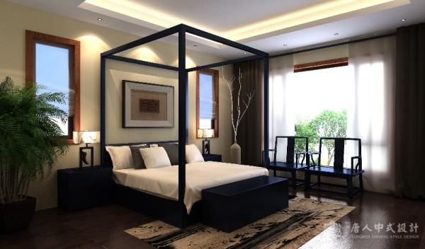 中式别墅卧室效果图