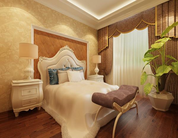 保利拉菲公馆-欧式风格-三居室-卧室装修效果图