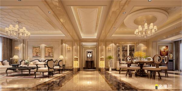 """新古典都市新贵精彩生活:把欧式古典设计元素进行提炼和简化,表现高贵奢华的家居气息在设计中充分表达了""""生活需要艺术,艺术来自生活""""的设计理念。"""