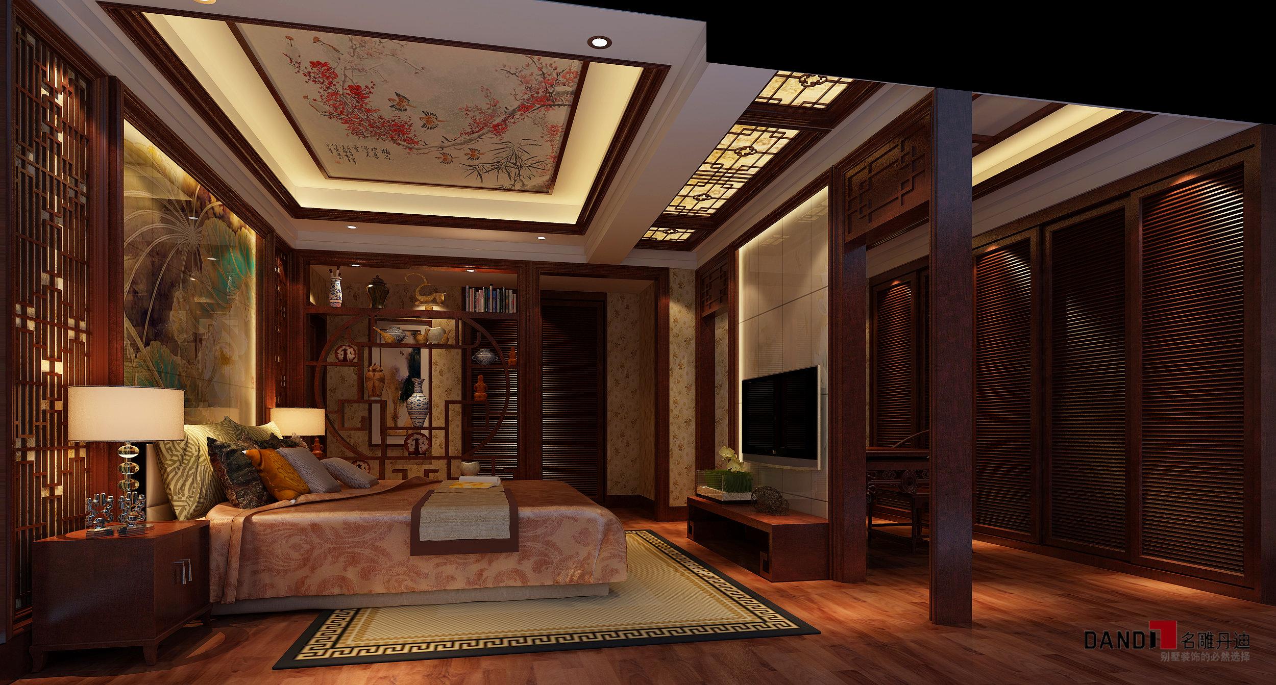 60后 豪华典雅 别墅设计 卧室图片来自名雕丹迪在中式典雅演绎传统图片