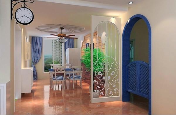 餐厅面积较大,采用射灯划分空间,多边形吊顶与墙面的造型墙相呼应,使整个空间丰富又温馨。