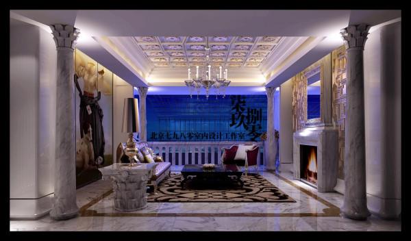七九八零设计工作室,别墅设计,欧式奢华,会所设计,客厅设计