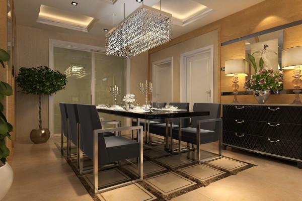 餐厅:隔断造型的设计,使得餐厅面积得以扩大,美感与实用完美结合,美观又别致。