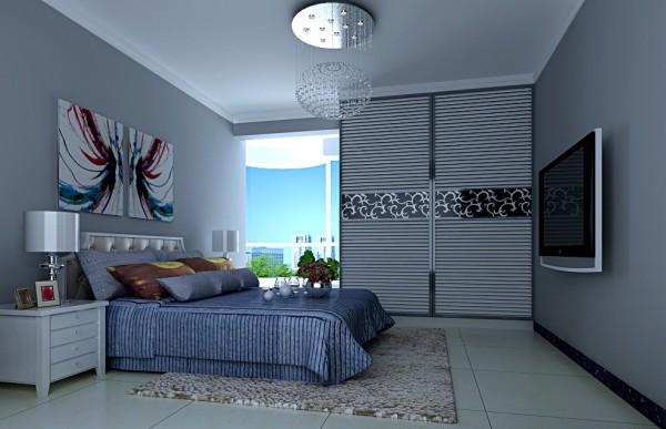 长江紫都小时代新婚住房-主卧设计
