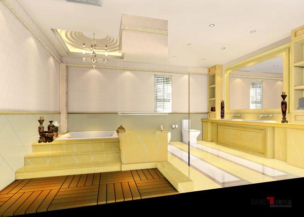 名雕丹迪别墅设计—熙龙湾顶层复式—欧式卫生间