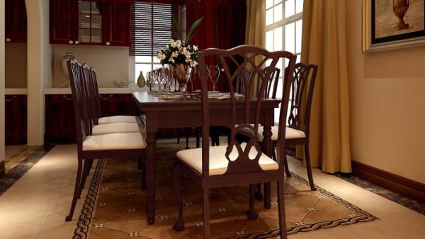 欧式风格温泉小镇别墅高度国际装修设计餐厅
