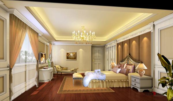 名雕丹迪别墅设计—熙龙湾顶层复式—欧式客房