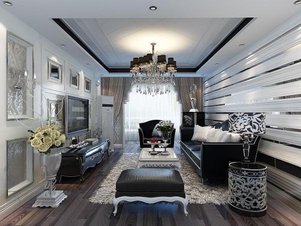 客厅采用深度颜色搭配,照片墙的电视背景以及古典风格家具配饰,整体体现出了一种古典的气质与韵味。