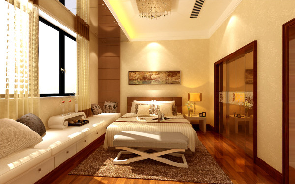 色彩浓重而成熟。中国传统室内陈设包括字画、匾幅、挂屏、盆景、瓷器、古玩、屏风、博古架等,追求一种修身养性的生活境界