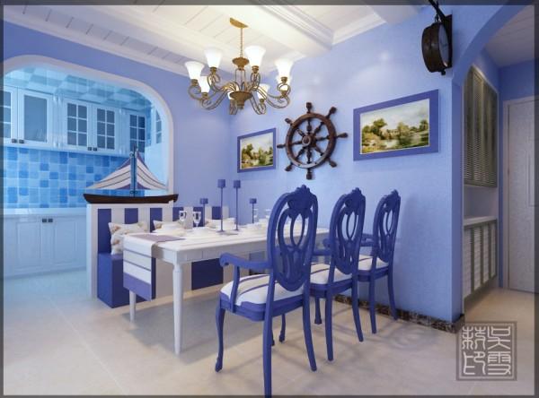 ,餐厅设计了L型一个卡座既增加了储藏空间又节省了空间 ,这样家里来了客人,也比较坐的开。