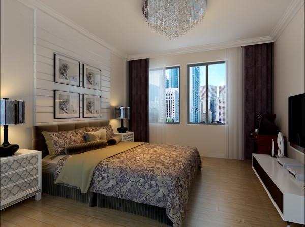 万科蓝山-简约欧式风格-128平米三居室装修-卧室装修效果图