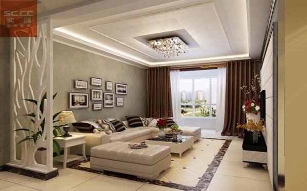 万达广场-90平米二居装修效果图