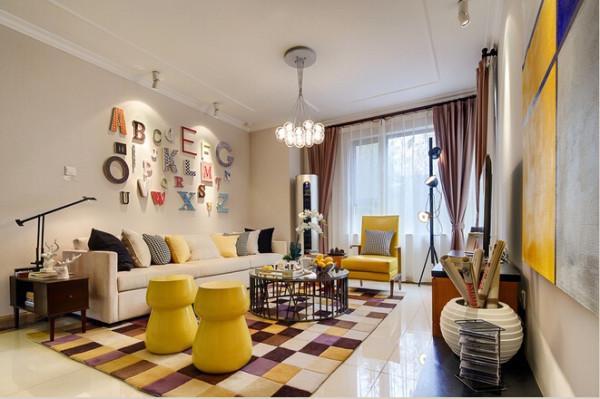 简约风格,小清新,客厅吊顶