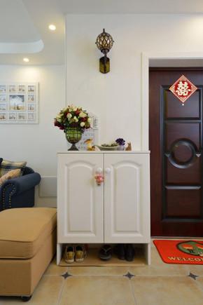 二居 地中海 83平 婚房 小清新 玄关图片来自孙进进在83平地中海小清新婚房有爱一家人的分享