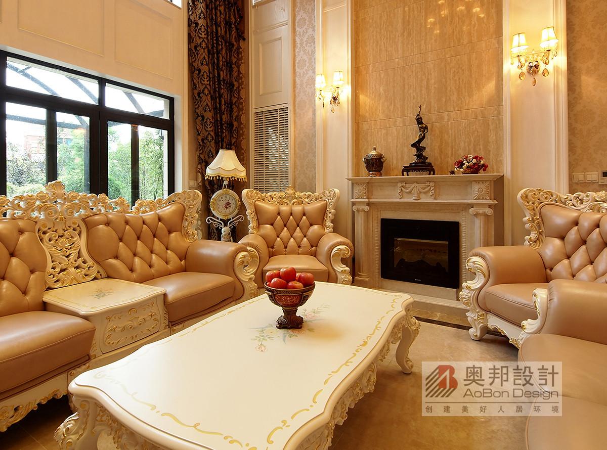 保利叶上海挑空别墅欧式风格设计