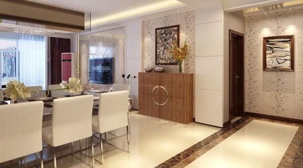 长航蓝晶国际139平四居室装修设计-