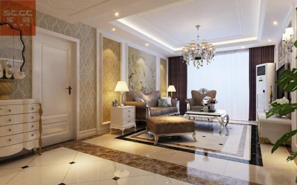 骏景家园-140平米三居装修-客厅效果图
