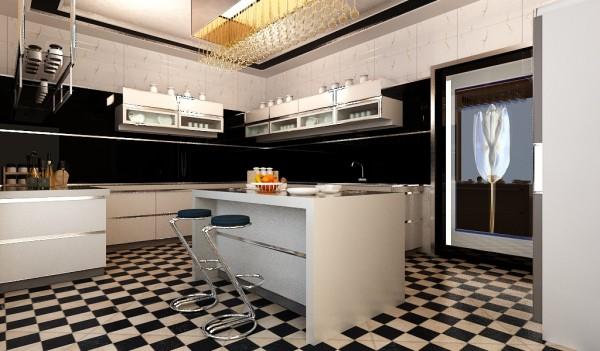 东胜紫御府三室厨房装修设计案例