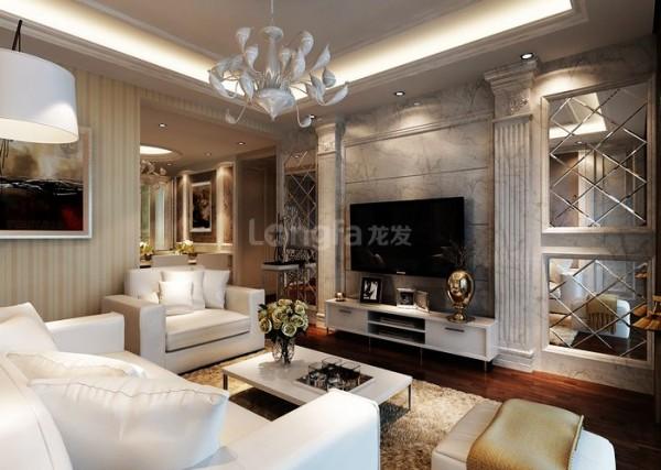 大唐西市140把浪漫主题融入设计客厅