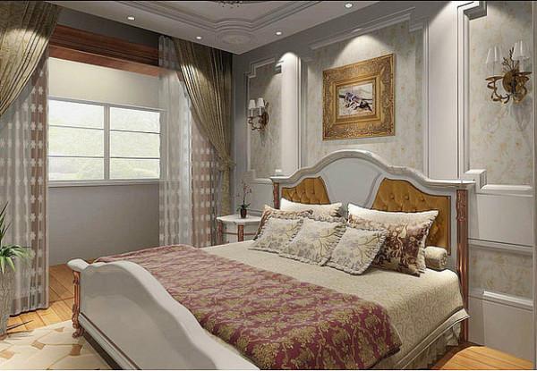 珠江荣景115平奢侈欧式装修设计-卧室效果图