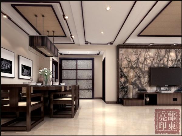 根据业主的性格习性,又比较喜好中国元素的效果,所以本户型设计以新中式风格为主,客餐厅掺入中式木质栅格雕花与石材背景墙,沉稳中彰显业主的品味。