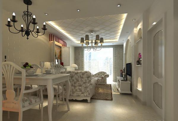 设计理念:客厅与餐厅连为一体,连带餐桌共同为整体风格增添色彩,布艺欧式风格的沙发更加体现整体的分风格!