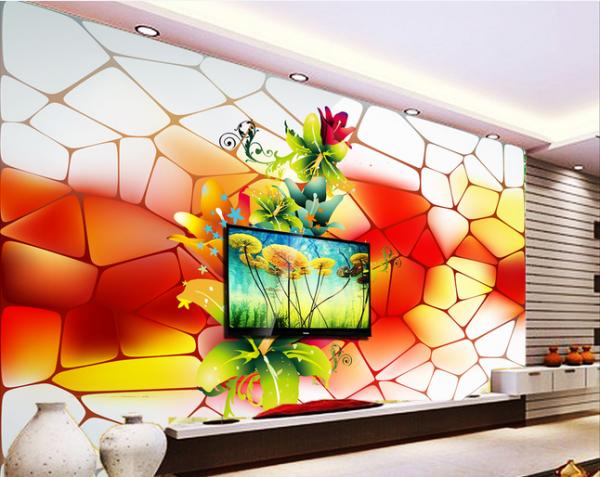 个性 壁画电视背景   给你的空间添置属于你们的色彩 联系电话18069438188