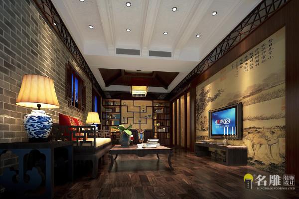 名雕装饰设计—君汇新天-现代中式-接待厅