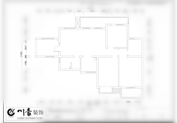 在功能划分上符合主人要求在客餐厅间做了一个酒柜以起到装饰和分割的作用。沙发靠墙面放主人心里有安全感。 家具以深浅交替搭配为主色彩 层次更分明 卧室墙面以壁纸为主空间显得更温馨舒适。川豪张凌