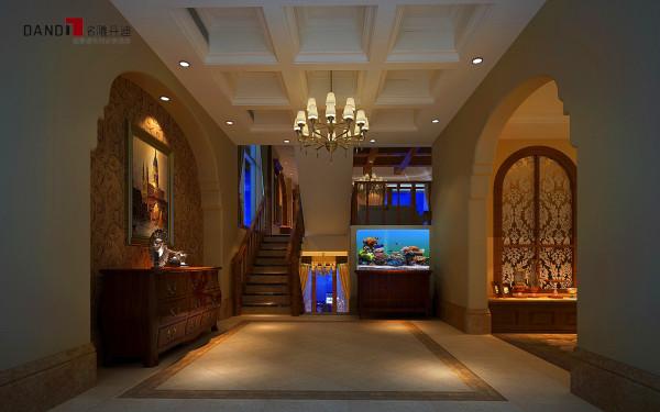 名雕丹迪别墅设计—美式风格玄关