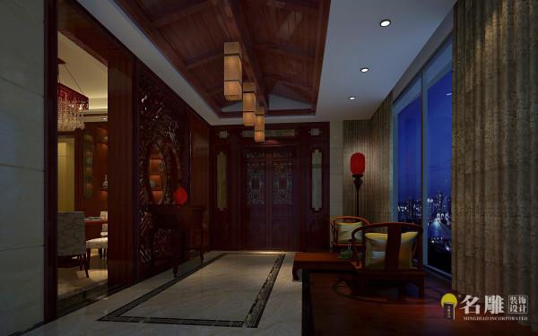 名雕装饰设计—君汇新天-现代中式-玄关