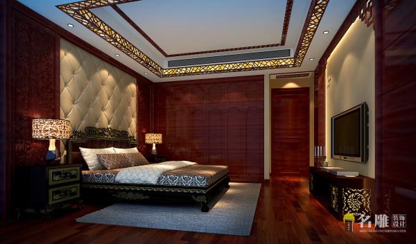 名雕装饰设计—君汇新天-现代中式-卧室