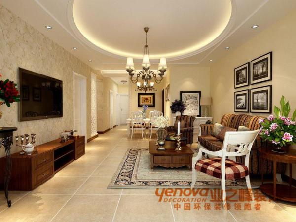 客厅田园风格140平米装修图