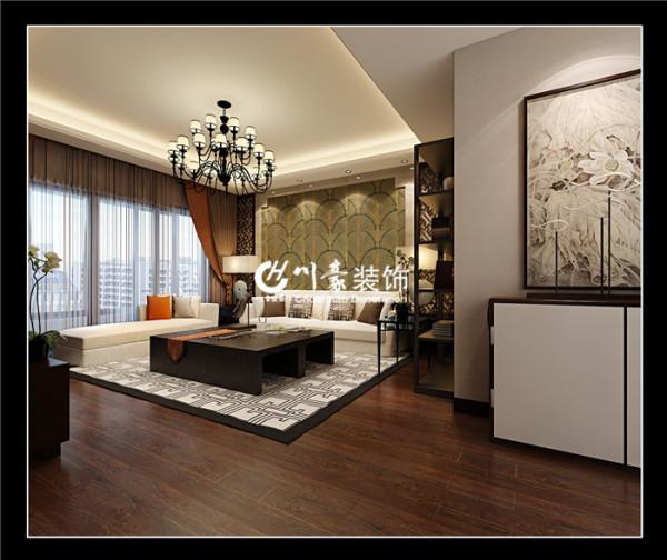 此户型是130平方三室两厅一厨两卫  川豪装饰 滨湖世纪城 振徽苑130 新中式风格 川豪张凌