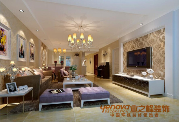 客厅145平米欧式风格装修效果图