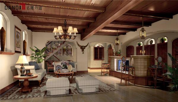 名雕丹迪别墅设计-星河丹堤别墅——美式地下室