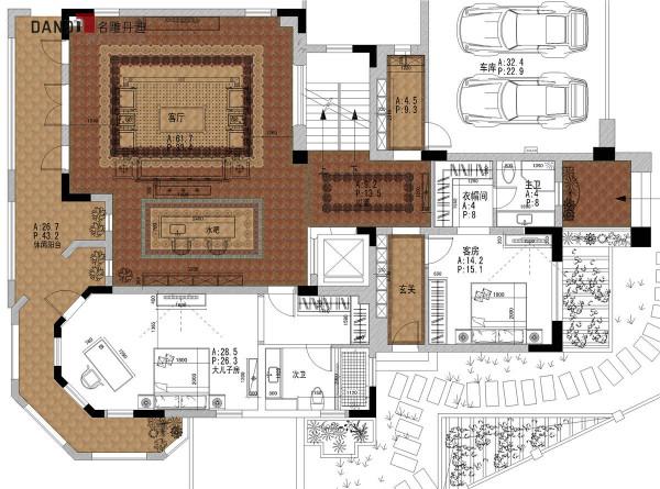 半岛一号别墅一层户型图