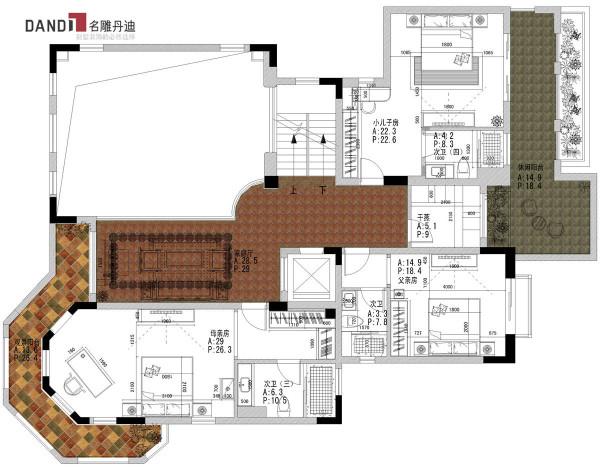 半岛一号别墅二层户型图