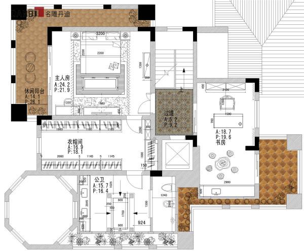 半岛一号别墅三层户型图