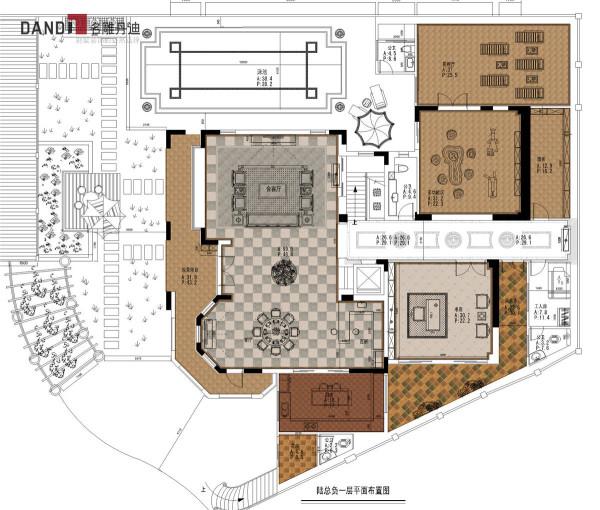 半岛一号别墅负一层户型图
