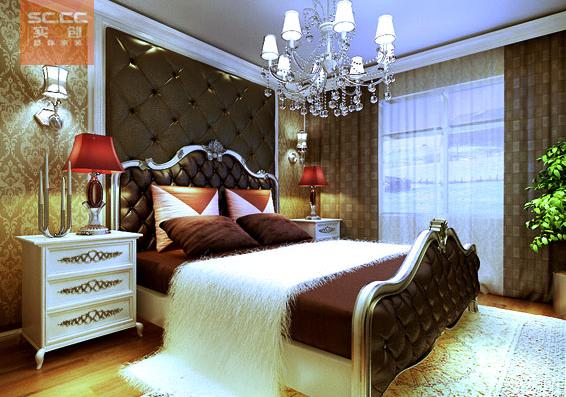 紫晶悦城-97平米现代简约装修设计-卧室效果图