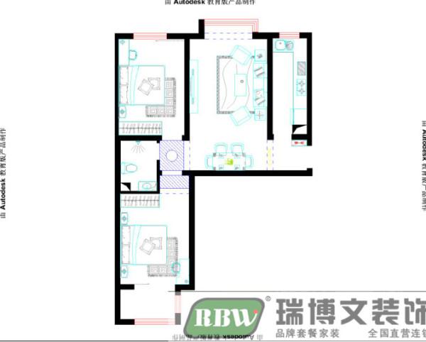 户型优点:两室小户型,空间分布合理,每个空间都有足够的采光。 户型缺点:餐厅面积较小,暗卫