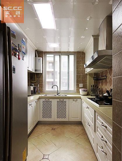 紫晶悦城-97平米现代简约装修设计-厨房效果图