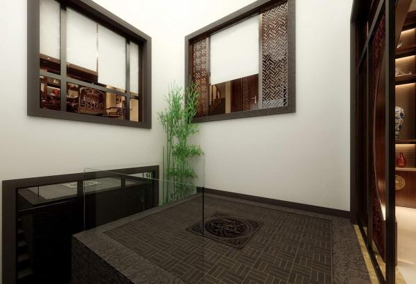 室内采用对称式的布局方式,格调高雅,造型朴素优美,色彩浓  厚而成熟。室内陈设包括字画、匾幅、盘景、陶瓷、古玩、屏风、博古架等,追求一种修  身养性的生活境界。