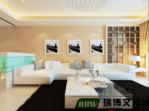 沙发背景墙的面积比较大