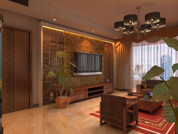 此空间是整个方案的核心部分,门厅的玄关拼花地面,给人很强的代入感,客厅简约的背景墙利用色彩自然划分区域。