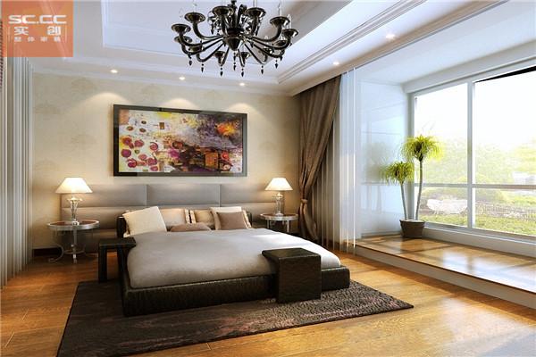 御景阁-110平米b户型装修-卧室效果图