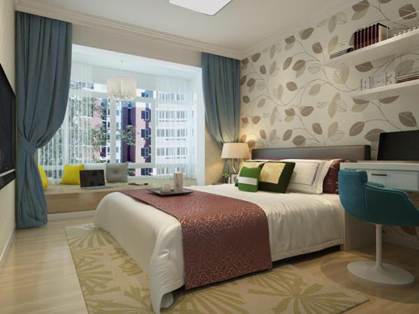 卧室使我们休息的地方,色调不能太跳跃,因此在整体色调上采用了暖黄色,是卧室更显温馨舒适。