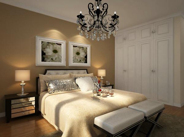 【武汉实创装饰】赛达国际设计方案/90平现代中式设计效果-次卧设计效果
