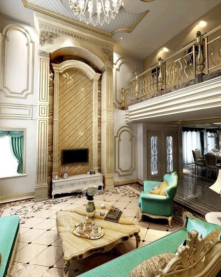 客厅浅蓝色调给予活泼 浪漫和舒服的氛围